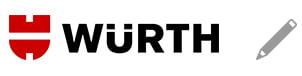 Würth logo og blyant